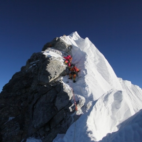 A cops de puny a l´Everest