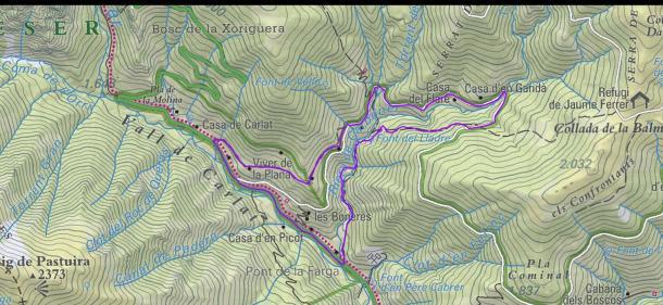 Setcases, volta al riu Carboner